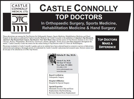 Castle Connolly's Top Doctors in Orthopaedic Surgery